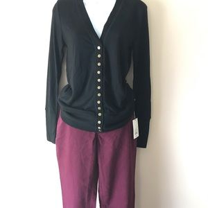 Zenana Outfitters Black Long Sleeve Cardigan Sz M